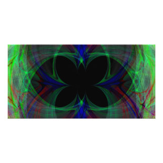 Abstract Butterfly 2 Photo Card Template