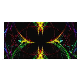 Abstract Butterfly 3 Photo Card