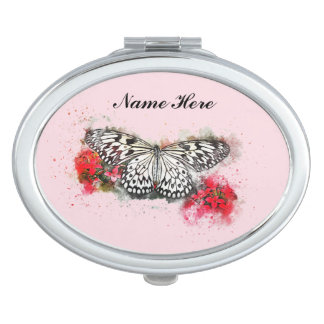 Abstract Butterfly Art Vanity Mirror