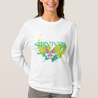 Abstract Butterfly Cervical Cancer Survivor T-Shirt
