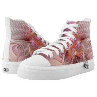 Abstract Butterfly Colorful Fantasy Fractal Art High Tops