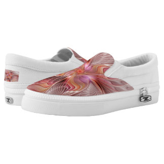 Abstract Butterfly Colorful Fantasy Fractal Art Slip-On Shoes