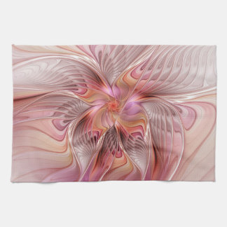 Abstract Butterfly Colorful Fantasy Fractal Art Tea Towel
