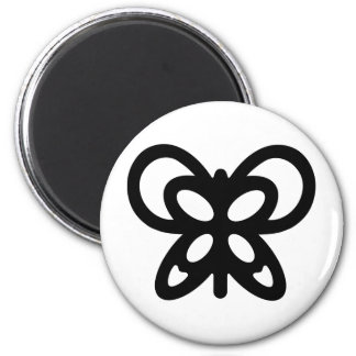 Abstract Butterfly Design 6 Cm Round Magnet