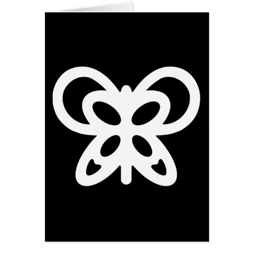 Abstract Butterfly Design Greeting Cards