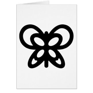 Abstract Butterfly Design Greeting Card
