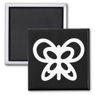Abstract Butterfly Design Square Magnet