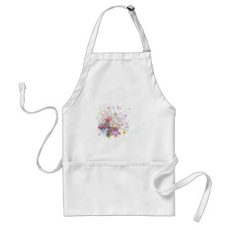 Abstract butterfly floral background apron
