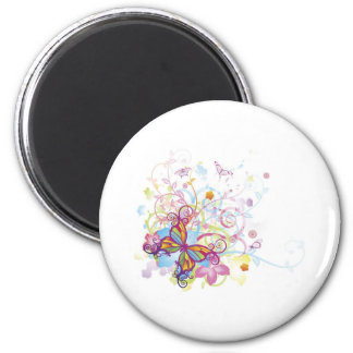 Abstract butterfly floral background magnets