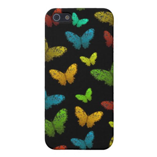 Abstract Butterfly Flutterby on black iPhone 4G iPhone 5 Case
