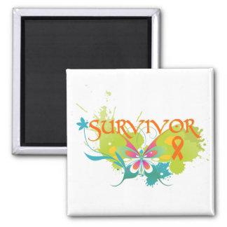 Abstract Butterfly Leukemia Survivor Refrigerator Magnets
