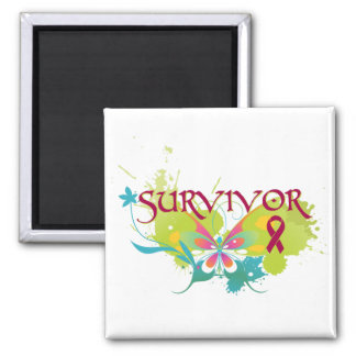 Abstract Butterfly Multiple Myeloma Magnet