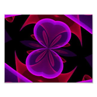 Abstract butterfly ribbon poster