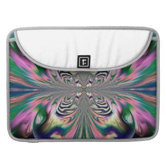 Abstract Butterfly Rickshaw Flap Sleeve MacBook Pro Sleeve