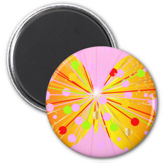 Abstract Butterfly Silhouette 6 Cm Round Magnet