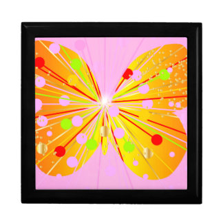 Abstract Butterfly Silhouette Gift Box