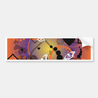 Abstract Butterfly Sphere Orange Purple Bumper Sticker