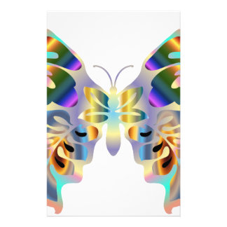 Abstract Butterfly Stationery Paper
