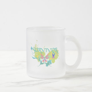Abstract Butterfly Thyroid Cancer Survivor Coffee Mug
