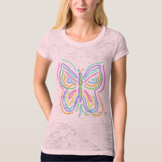 Abstract Butterfly Wearable Art T-shirt
