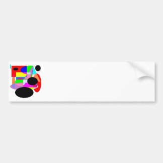 Abstract by Wendy C. Allen Bumper Sticker