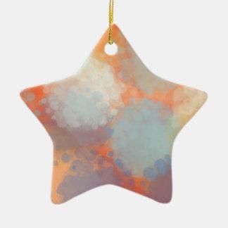 Abstract C Ceramic Star Decoration