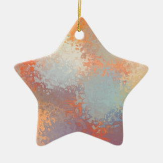 Abstract C Version 2 Ceramic Star Decoration