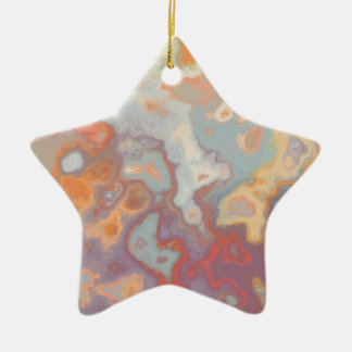 Abstract C version 3 Ceramic Star Decoration