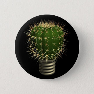 Abstract cactus 6 cm round badge