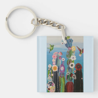 Abstract Cactus Key Chain