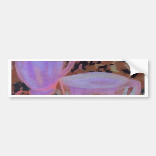 Abstract Cafe CricketDiane Coffee Art Bumper Stickers