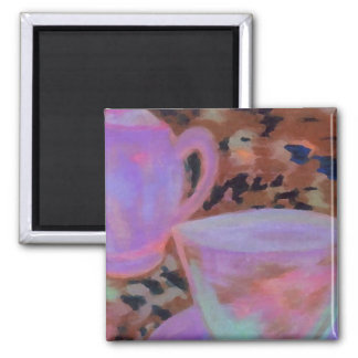 Abstract Cafe CricketDiane Coffee Art Square Magnet