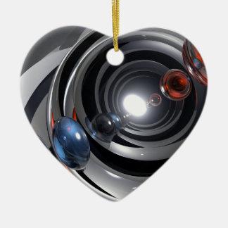 Abstract Camera Lens Ceramic Heart Decoration