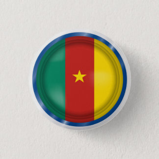 Abstract Cameroon Flag, Cameroon Africa Button