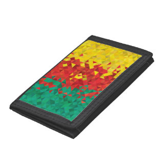 Abstract Cameroon Flag, Cameroon Africa Wallet