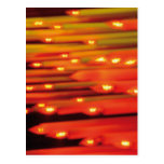 Abstract Candles - postcard