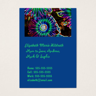 Abstract Cape Daisy - Mom calling cards template