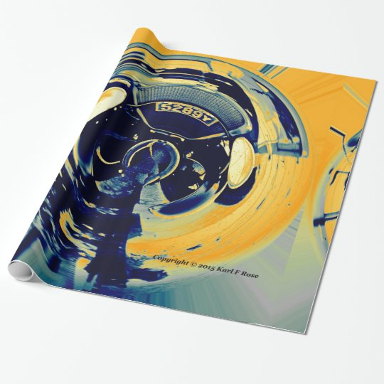 Abstract car wrapping paper