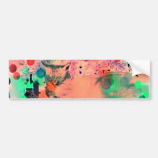 Abstract cat bumper sticker