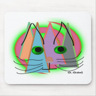 Abstract Cat Lover Art Gifts Mouse Pad