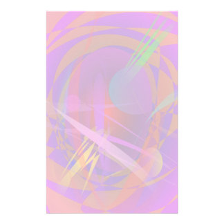 Abstract Cat s Face Customized Stationery
