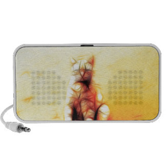 Abstract Cat Travelling Speakers