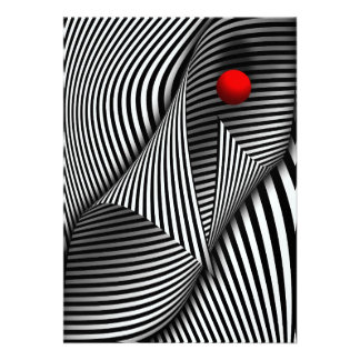 Abstract - Catch the red ball Personalized Invitation