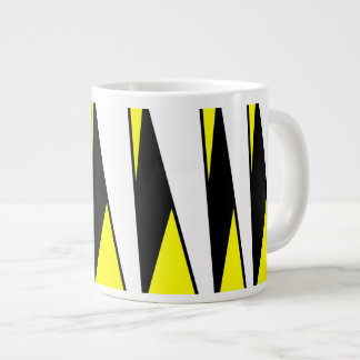 Abstract Caterpillar Design, Monarch Butterfly Large Coffee Mug