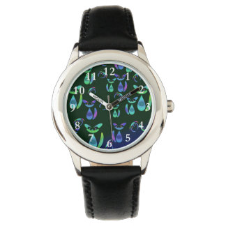 Abstract Cats and Flying Crabs Watches