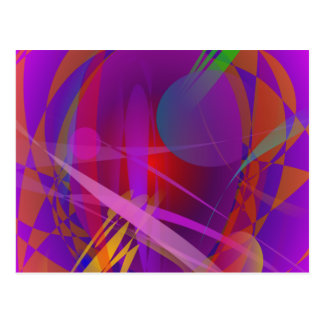 Abstract Cat's Face Postcard