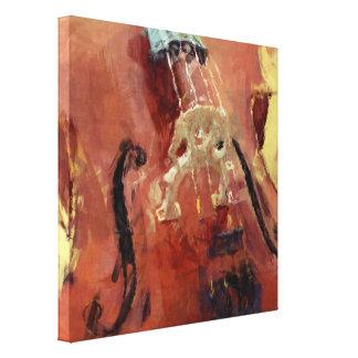 Abstract Cello Bridge Canvas Prints