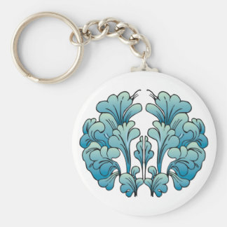 Abstract Celtic Floral Tees and Gifts Basic Round Button Key Ring
