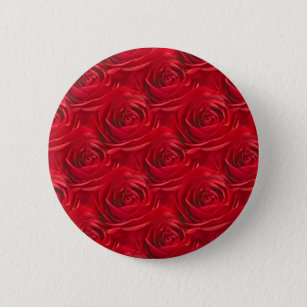 Abstract Center Of Red Rose Wallpaper 6 Cm Round Badge