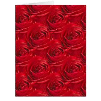 Abstract Center of Red Rose Wallpaper Greeting Card